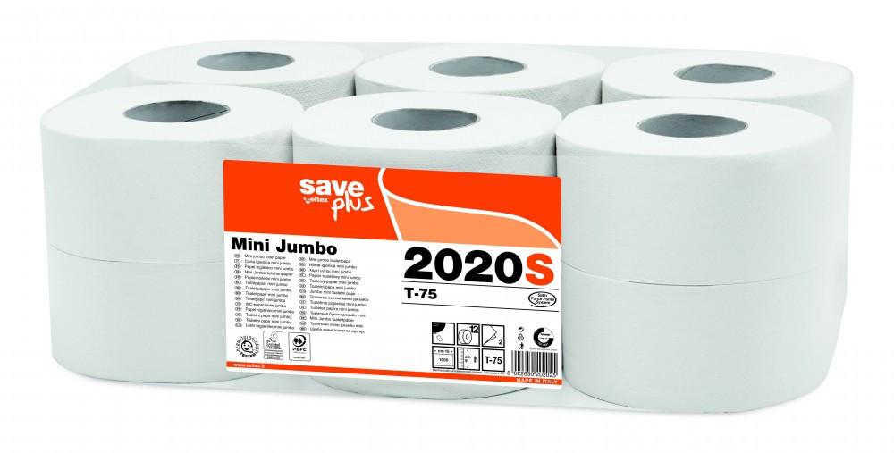 Image of Celtex 2020S WC papír, MINI, 2 rétegű, reciklált, 150m, 1000 lap, d19,5, 12 tek/cs